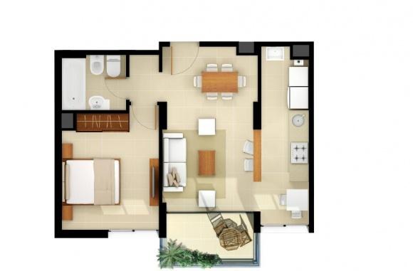Planta 1 dormitorio 9 de julio 3244 m t martin - Plantas para dormitorio ...